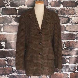 Ralph Lauren Wool Blazer Jacket Suit Coat Brown